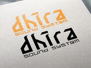 Logo Lettering para Dhira