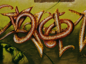 Graffiti «Selva». Vallecas 2003