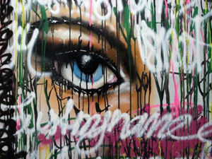 Only for your Eyes Series. Spray & Acrilic on wood
