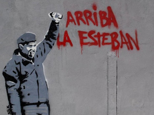 """""""Stencil Art"""" Arriba la Esteban"""