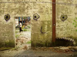 Silk. Street art 2004