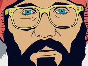 Ilustración para serigrafía – Beard