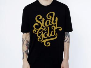 """Lettering Para serigrafía """"Stay Gold"""""""