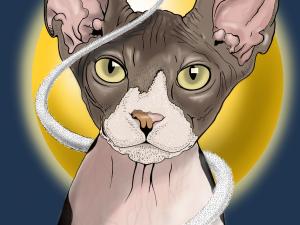 Ilustración «Gato Egipcio»